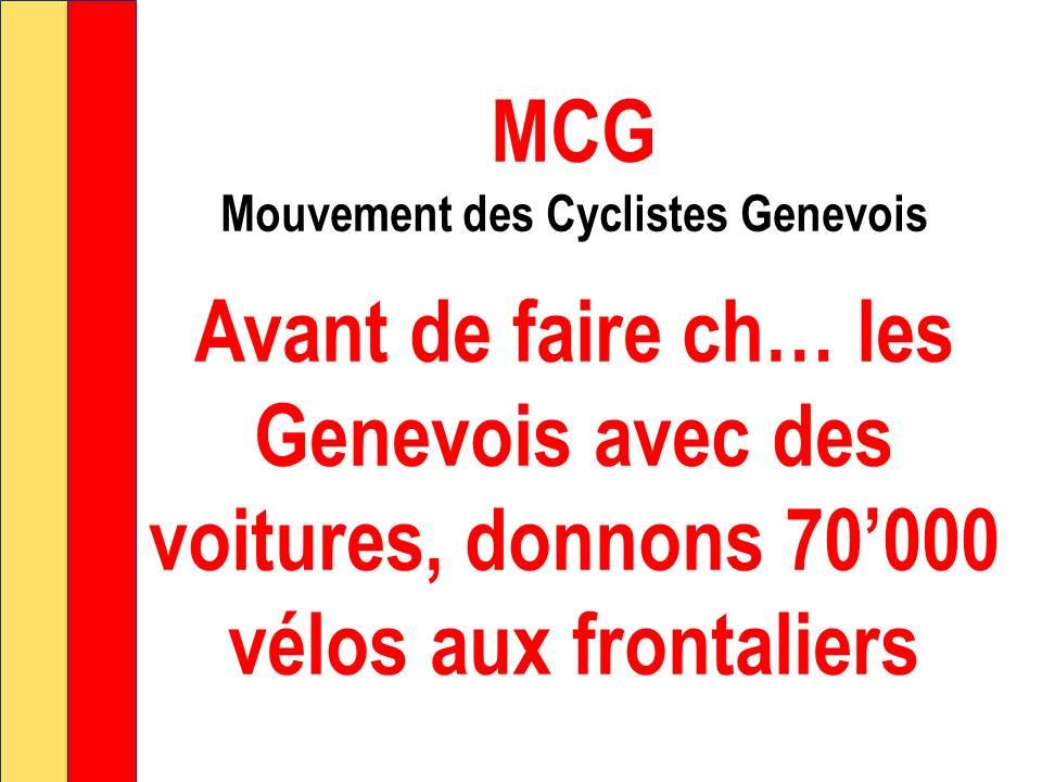 MCG 70'000 oui le 15 mai à l'initiative sur la mobilité douce